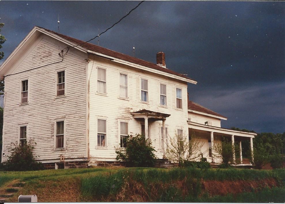Farm house before storm