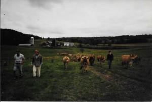 Walking the farm