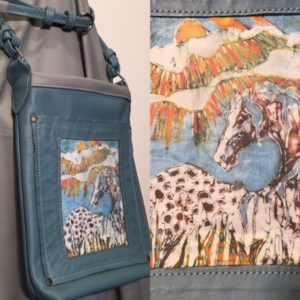 My Appaloosa in Sun Rays fabric in a purse by Dara James Designs