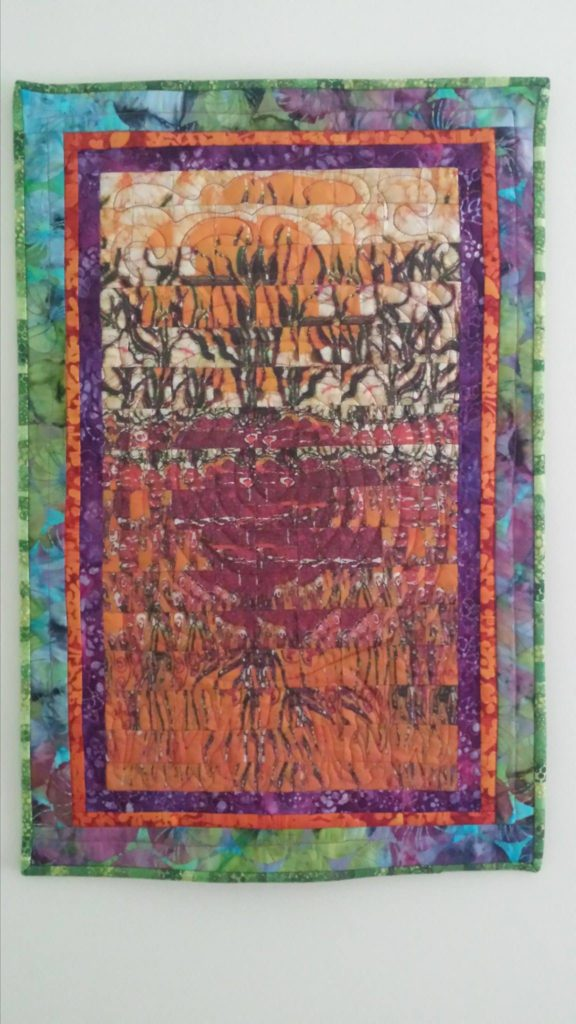 """Quilt by Dan Bridge using my """"Filled with Sunlight"""" fabric"""