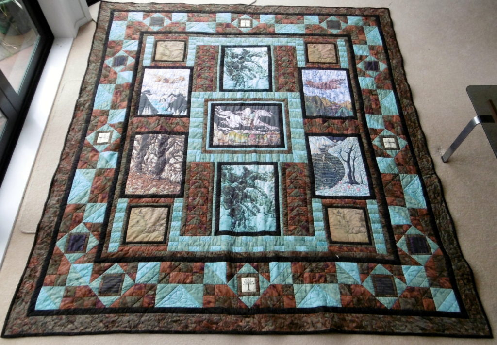 Quilt by Christa van der Woerd featuring my Lord of the Rings fabric