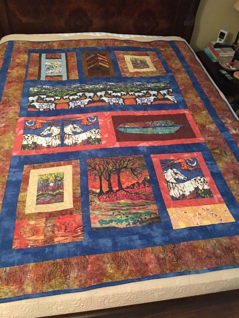 Nancy Patterson's quilt featuring my batik artwork