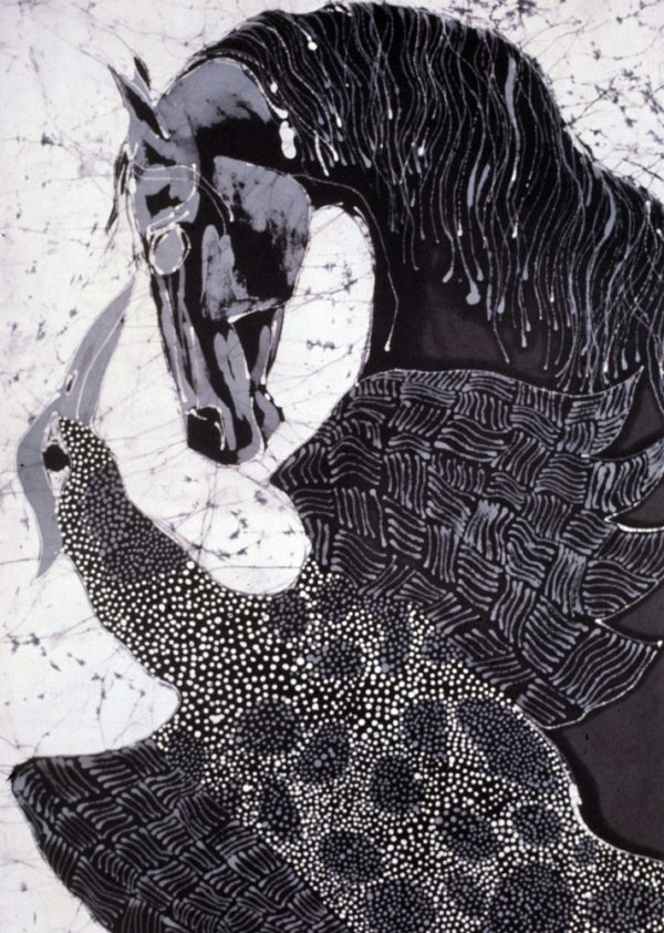 Horse with Speckled Bird