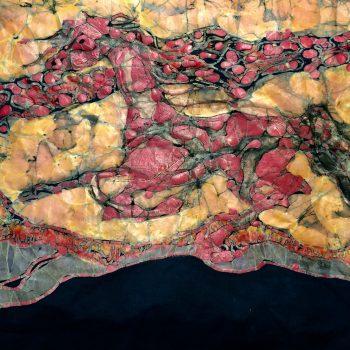 batik art of a horse